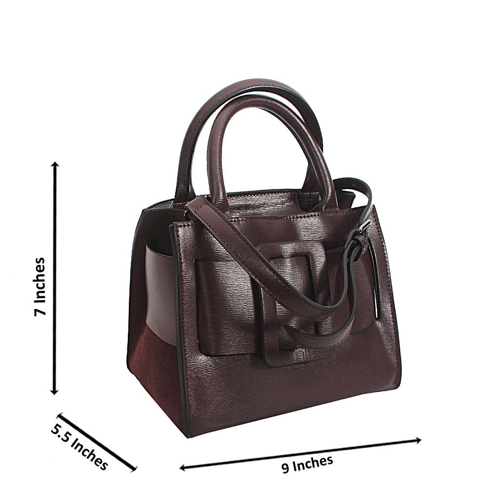 Dark Purple Tuscany Leather Mini Handbag