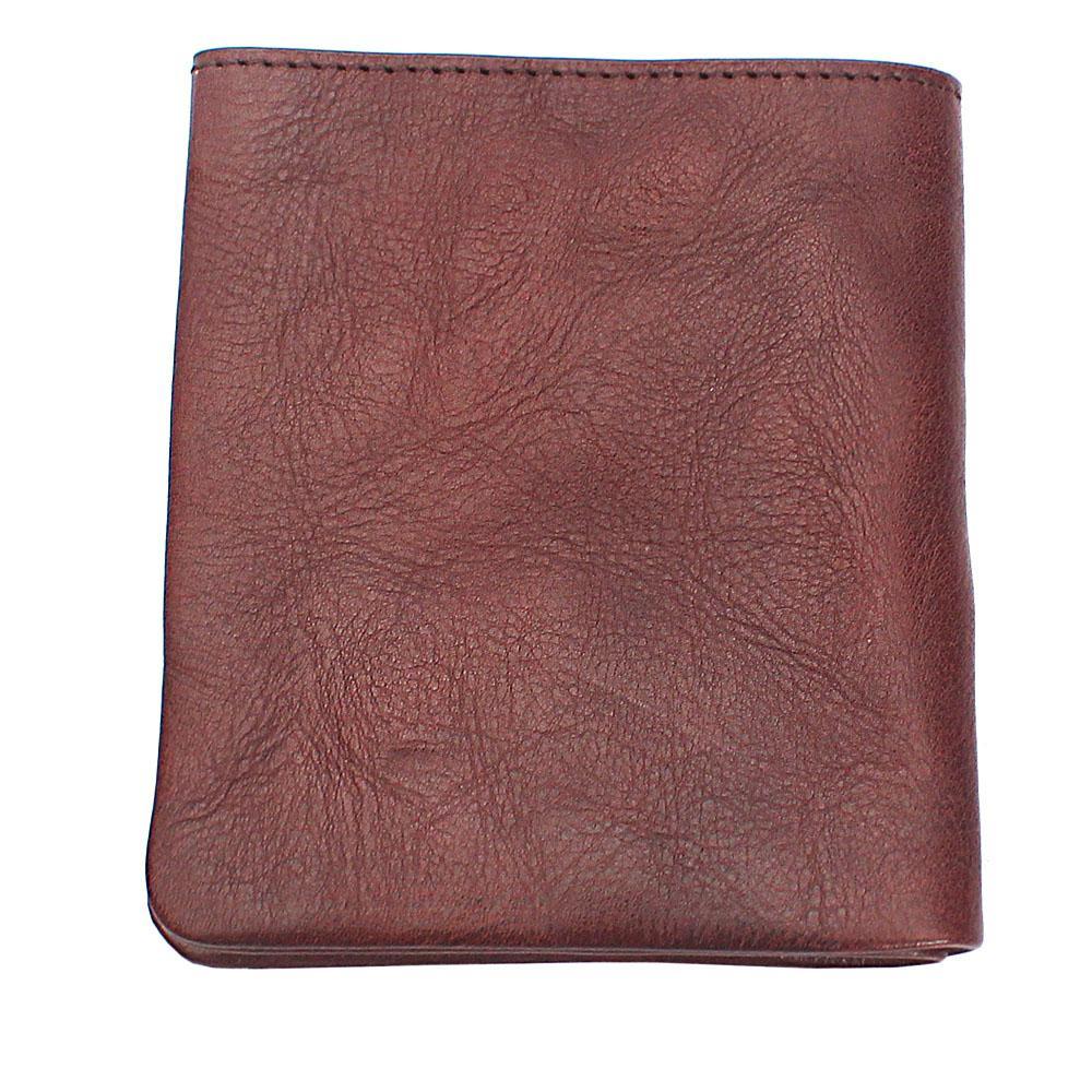 Brown Plain Leather Wallet
