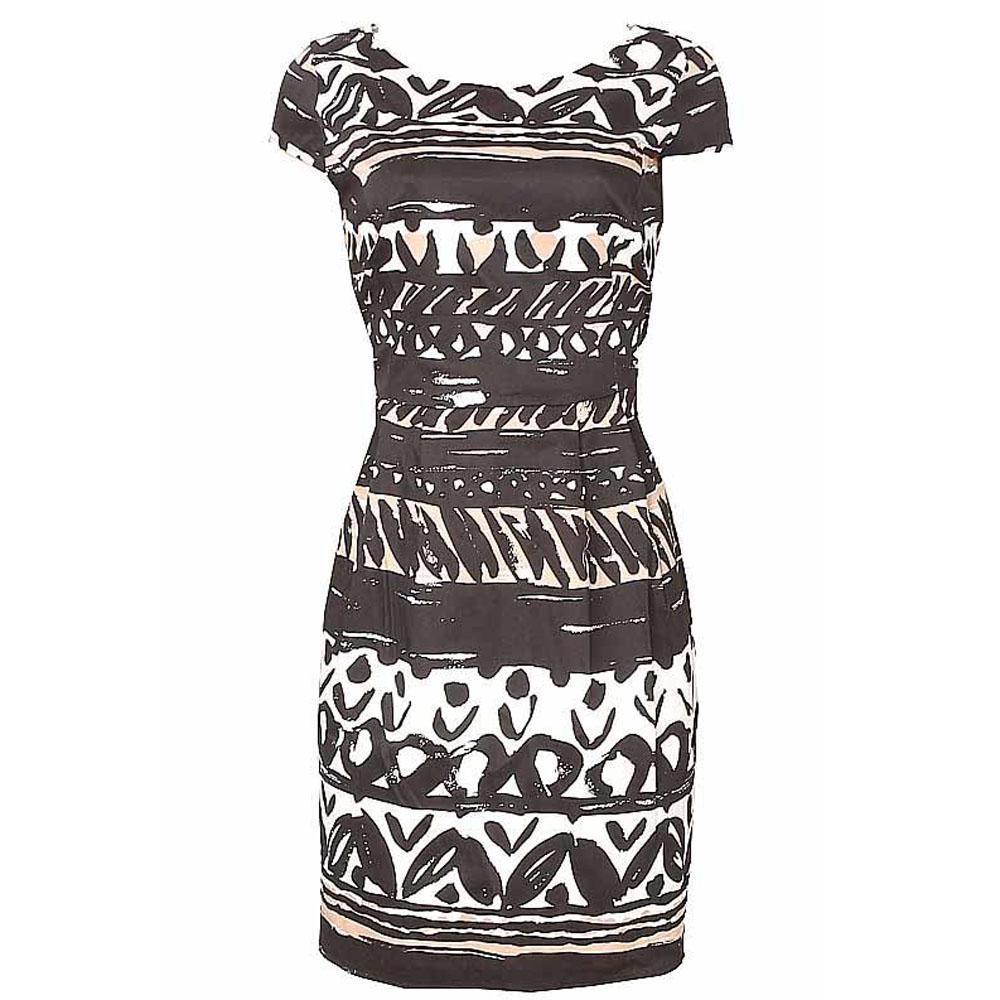 Per Una Black Dress Part - 26: Per Una Black Mix Sleeveless Mini Dress-Uk 14