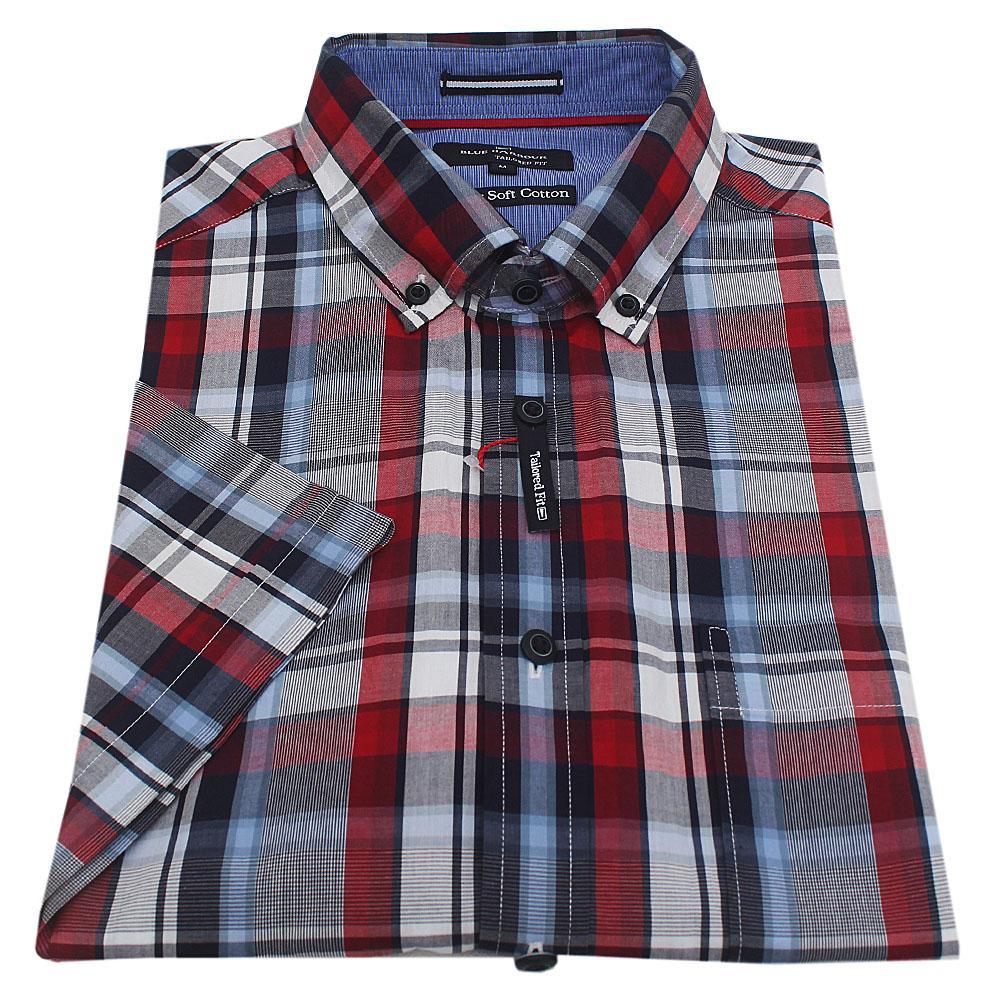 Blue Harbour Multicolour Check S/Sleeve Men Shirt