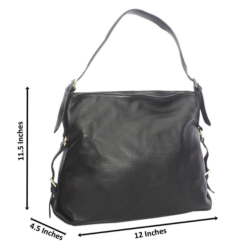 Classy Black London Styled Aussie Leather Shoulder Handbag