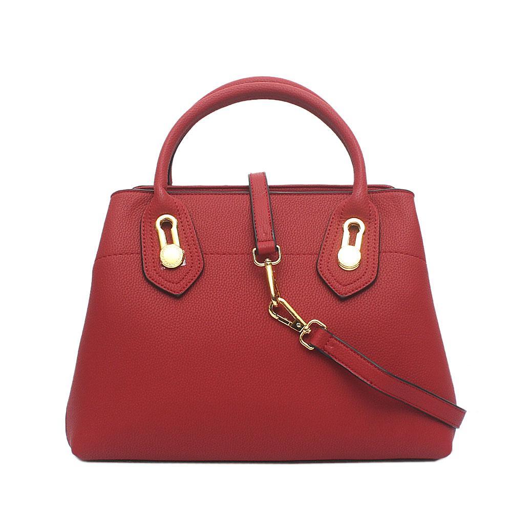 Barbados Fete Wine Leather Handbag