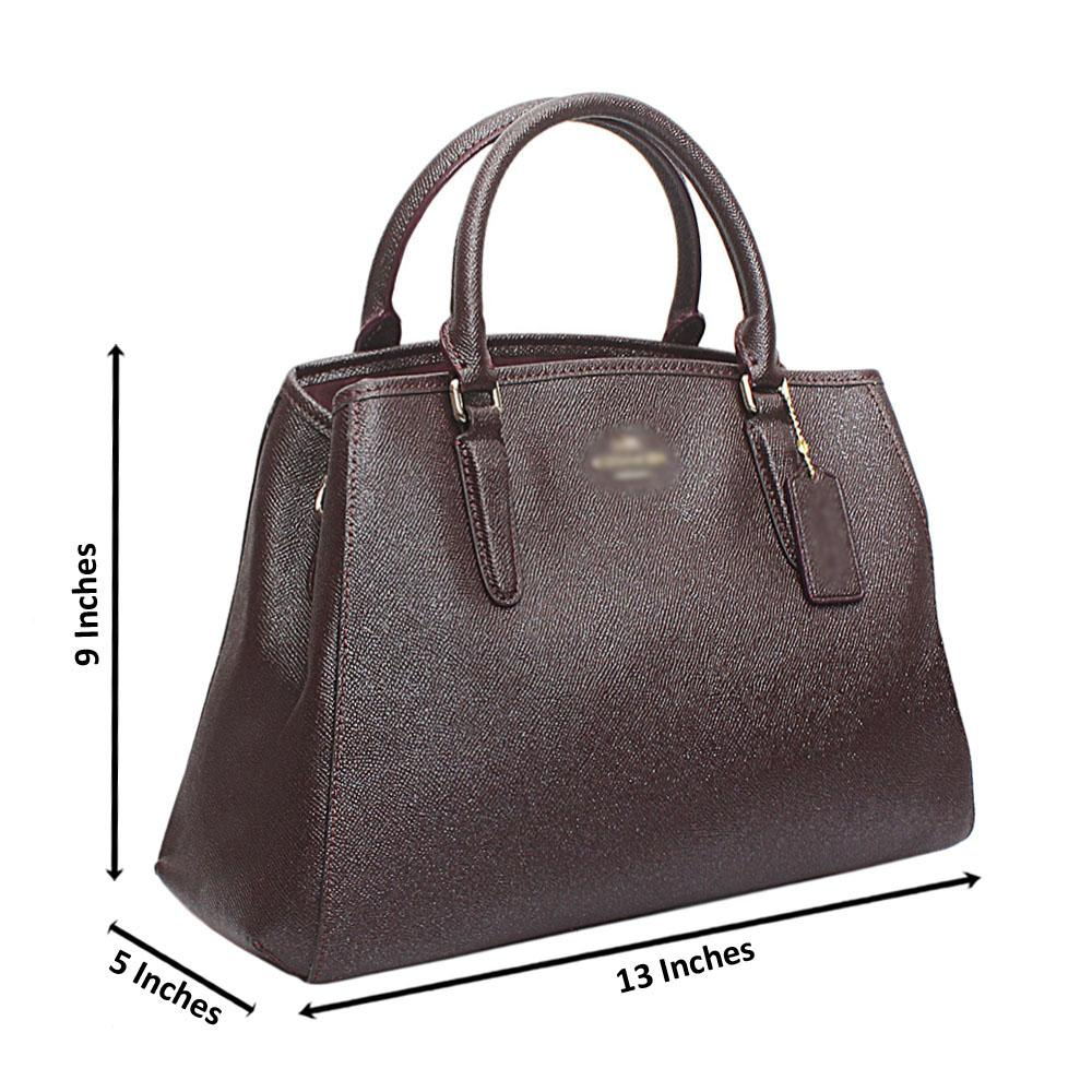 Coffee Cahier Saffiano Leather Handbag