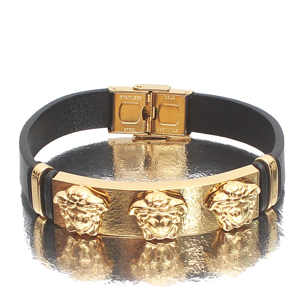 Versace Gold Leather Bracelet