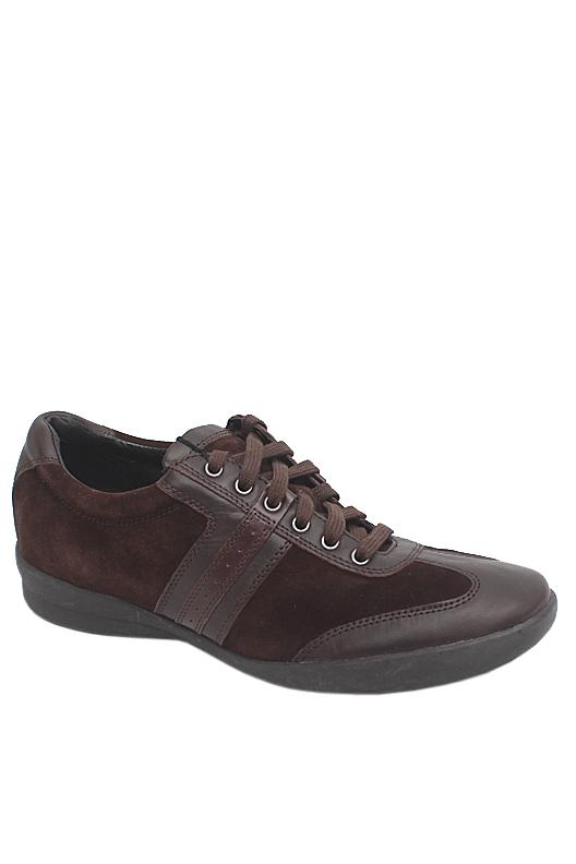 M & S Collezione Coffee Suede Leather Men Sneakers