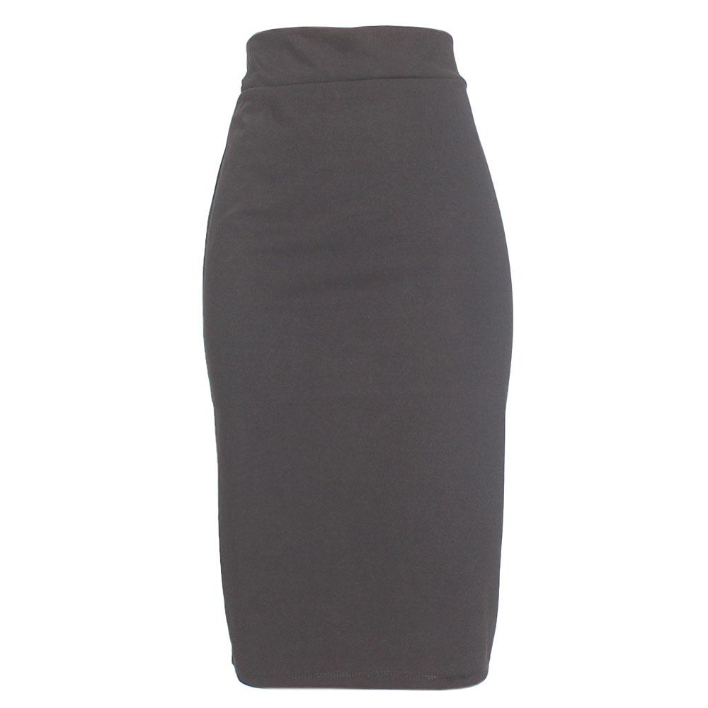 Black Cotton Stretch Skirt
