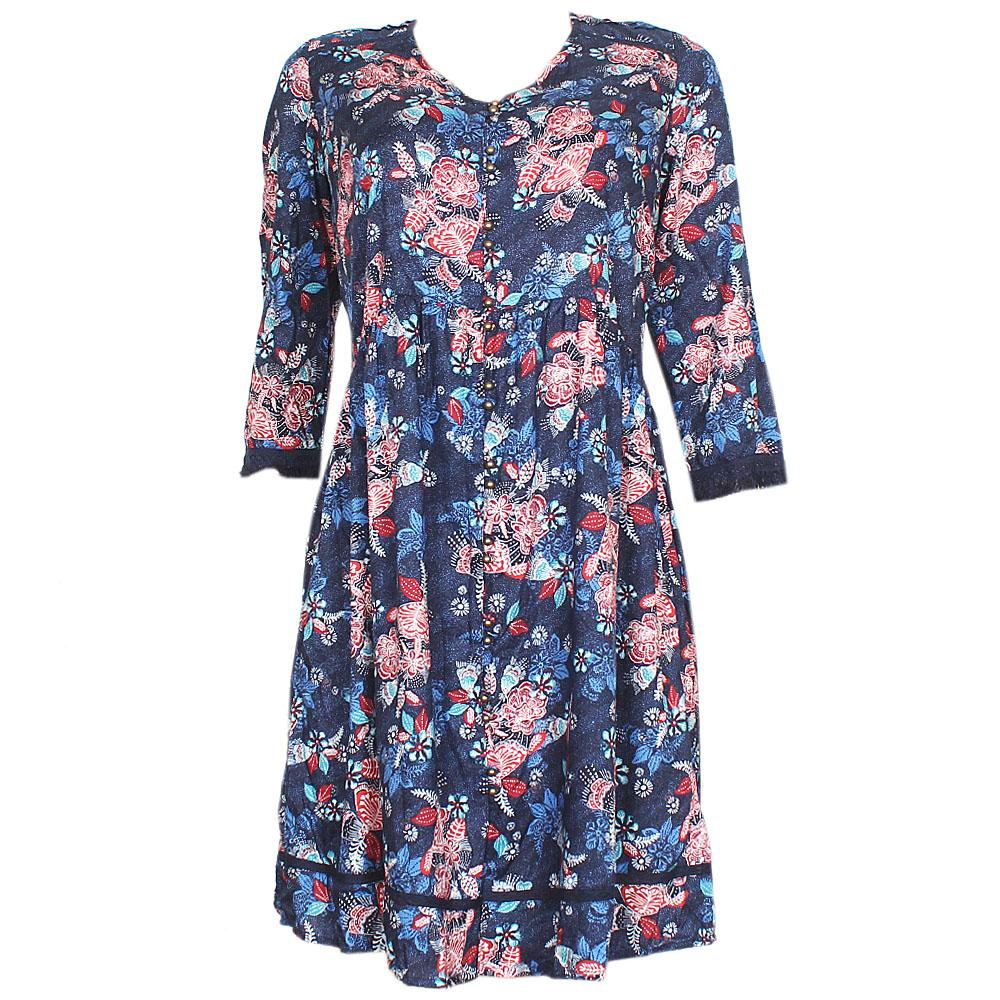 M&S Multicolor S/Sleeve Chiffon Dress