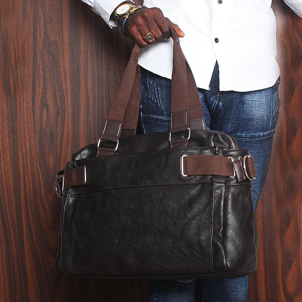 Blossom Coffee Brown Cassania Leather Man Bag