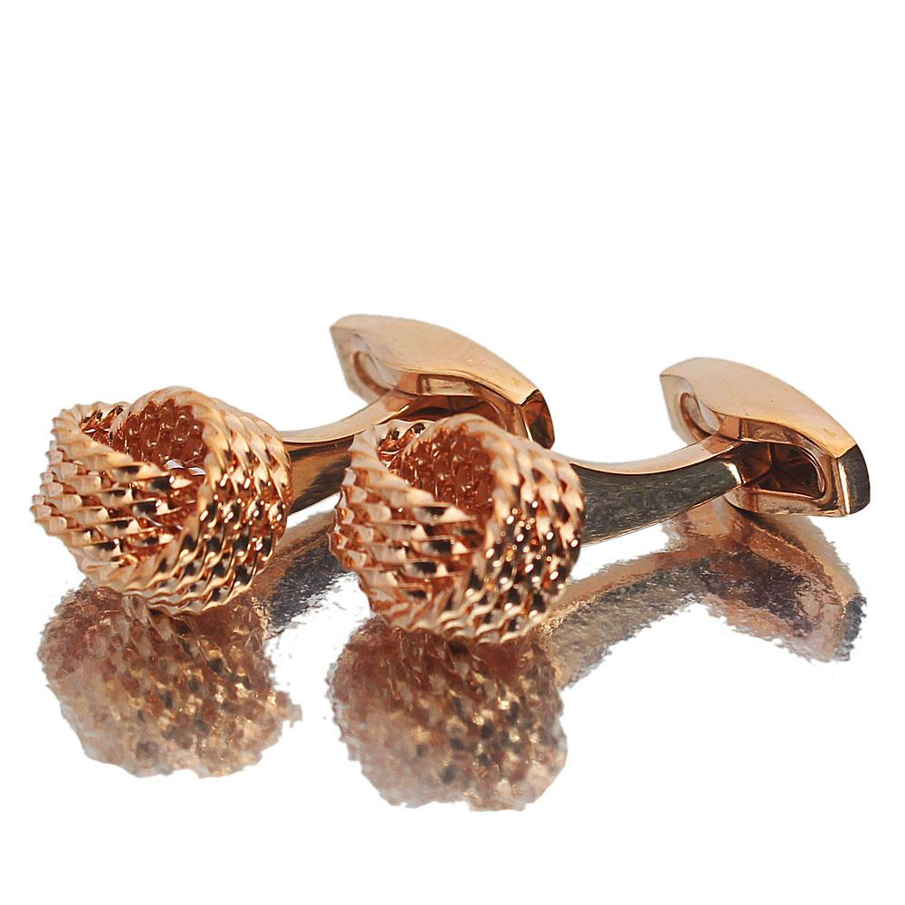 Classic Rose Gold Stainless Steel Cufflinks