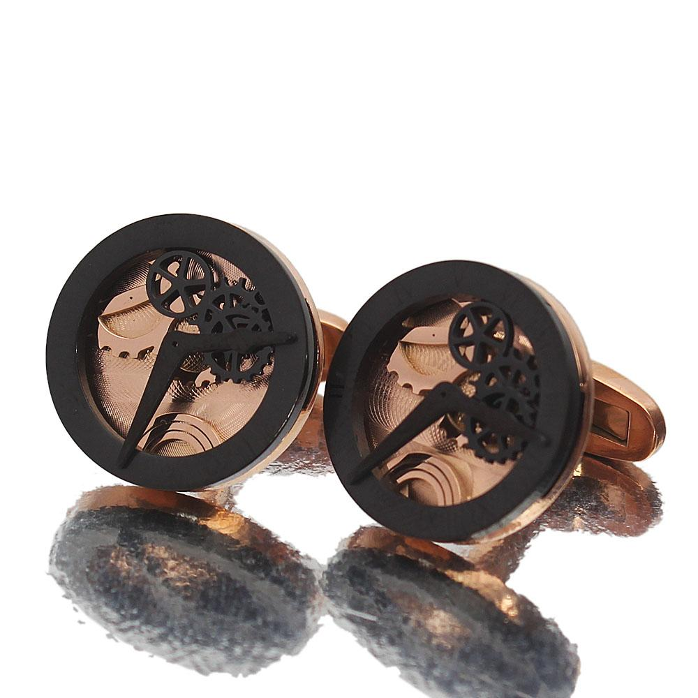 Man Of Steel Rose Gold Black Time Piece Stainless Steel