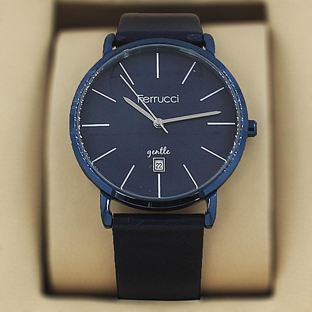 Ferrucci Karstan Navy Leather Fashion Series Watch