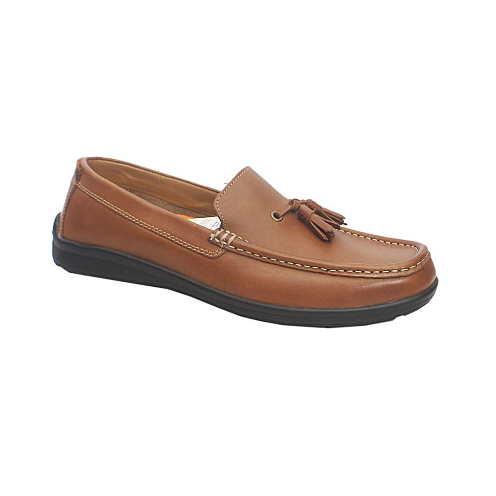 M & S Airflex Brown Leather Total Comfort Loafers