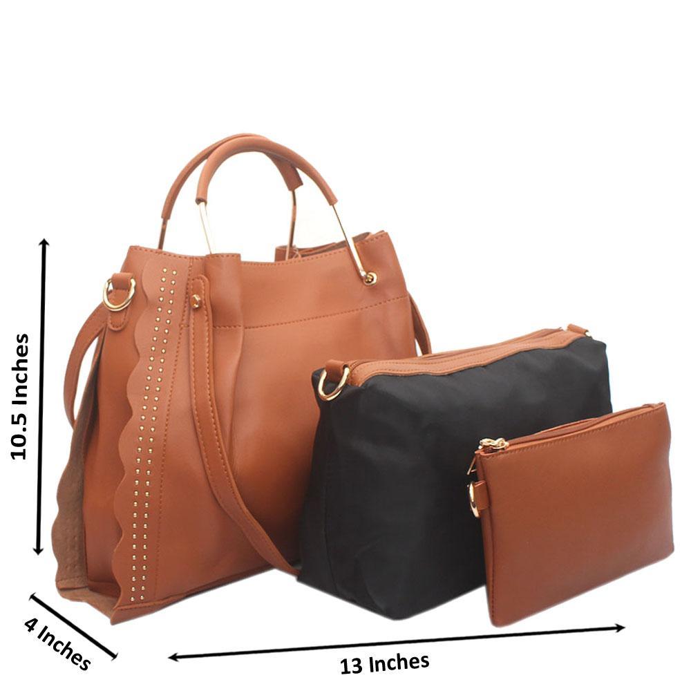 Brown Eva Leather Handbag