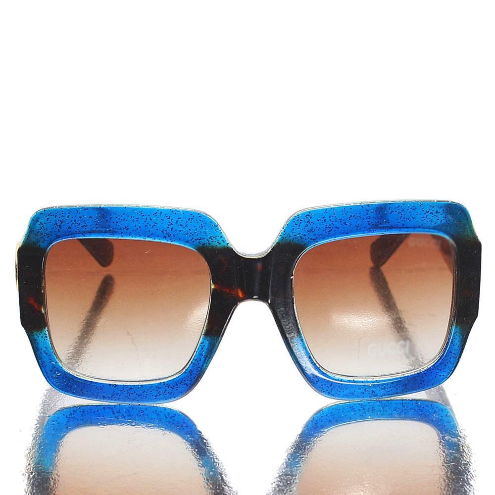 Blue Brown Oversized Sunglasses