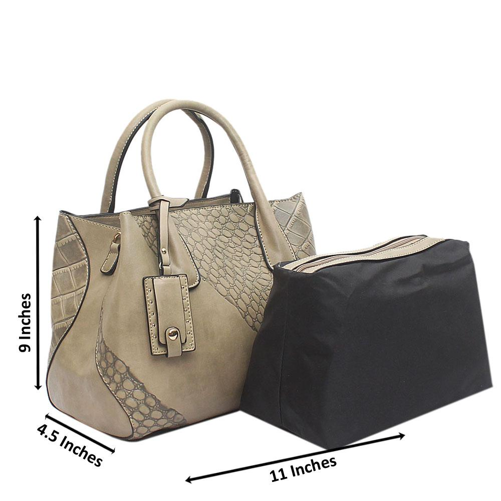 Khaki Leather Medium Avalon Handbag