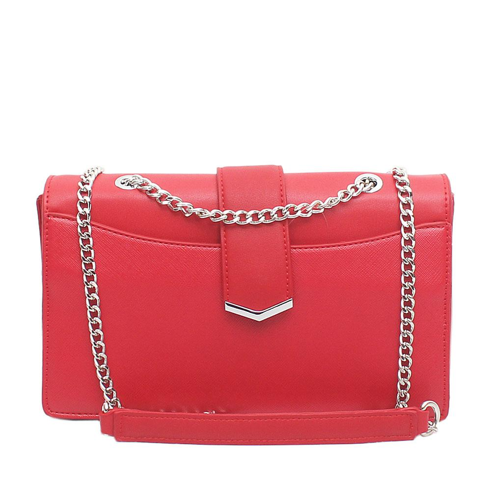 Red Leather Small Cross Body Bag