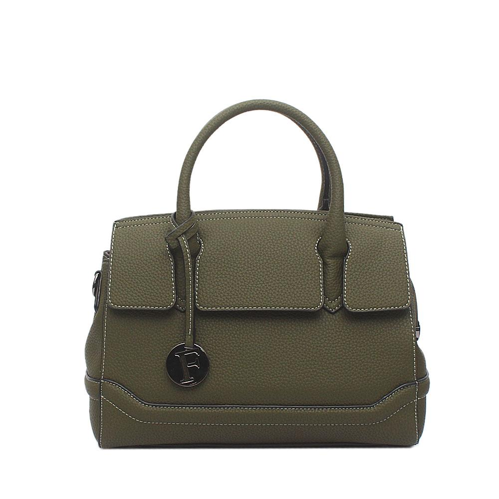 London Style Green Leather Tote Bag