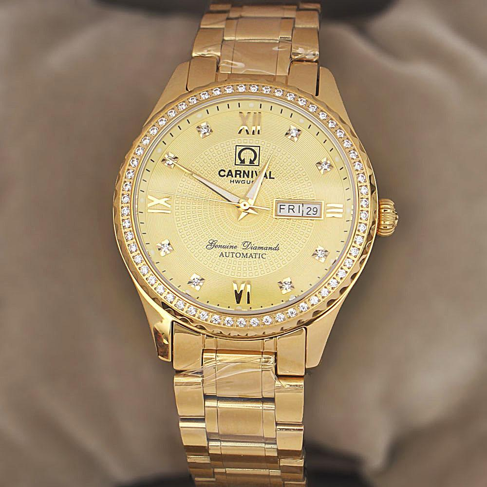 Shanghai Oyster Diamond Gold Stainless Steel Automatic Watch