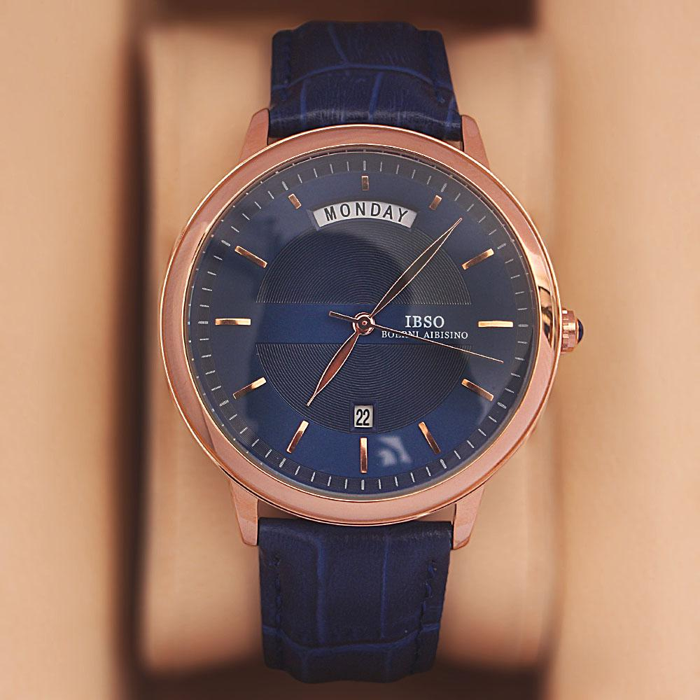 Safari Blue Croc Leather Watch