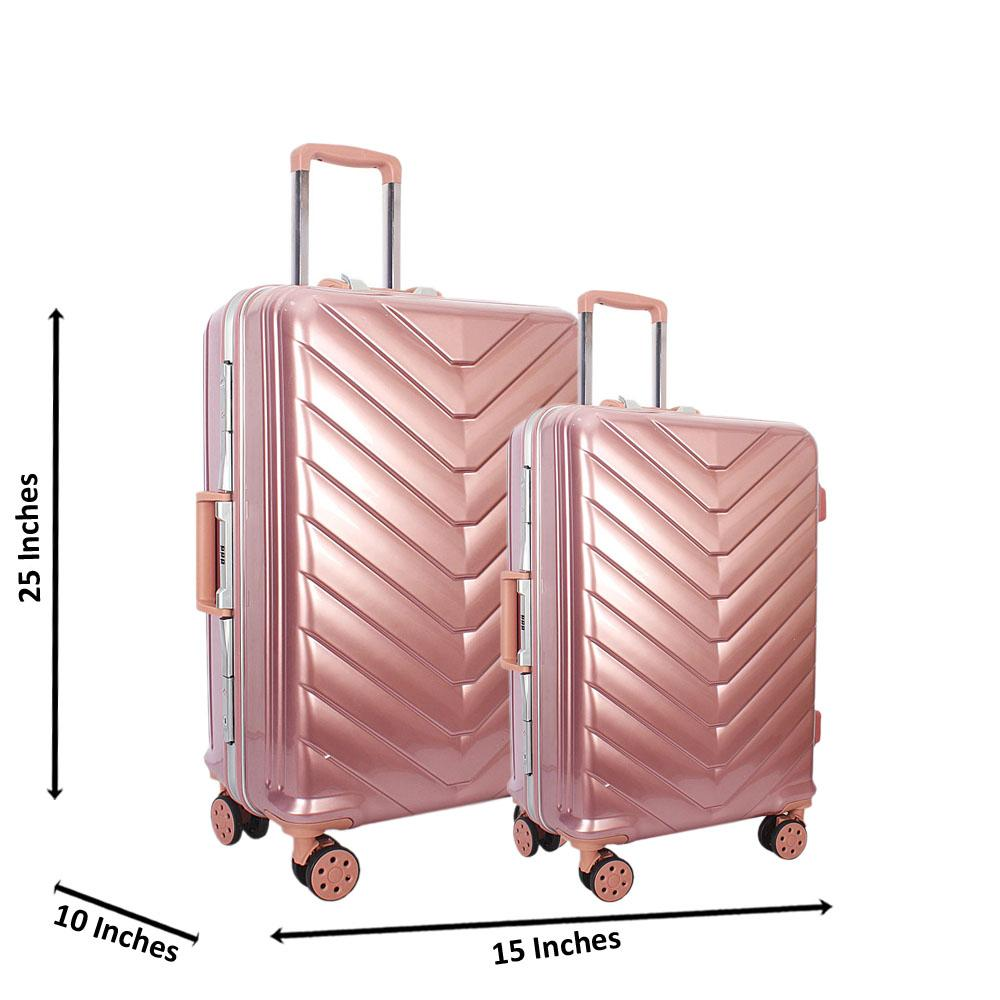 Pink 25 inch Wt 20 inch 2 in 1 Hardshell Luggage Set Wt TSA Lock