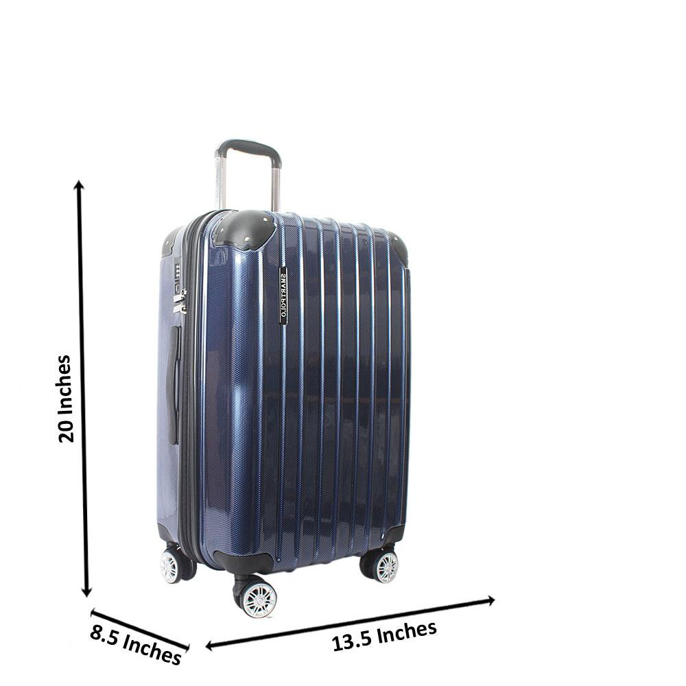 Blue 20 Inch Hardshell Carry On Luggage Wt TSA Lock