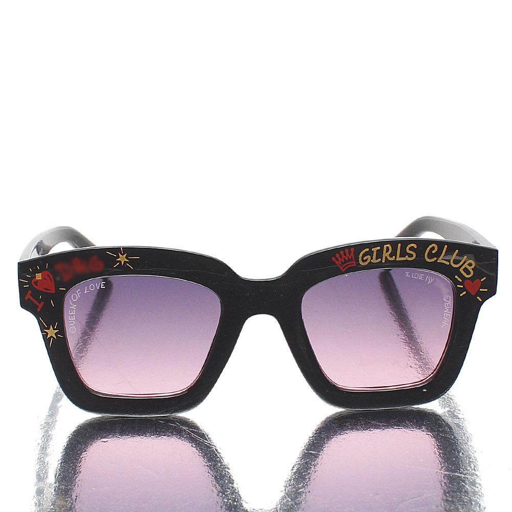 Black Girls Club Square Face Sunglasses