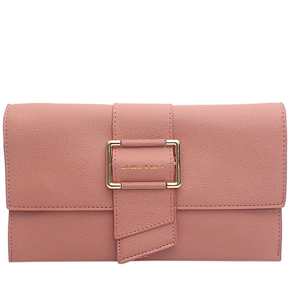 Pink Leather Flat Purse