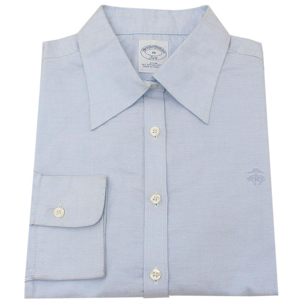 Brooks Brothers Light Blue Men's Longsleeve Formal Shirt-10
