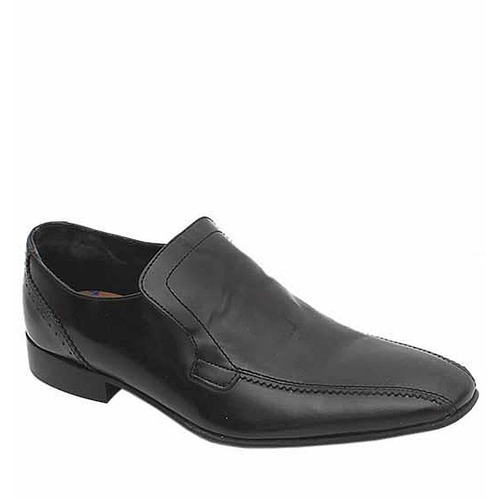 Autograph Black Leather Slip On Men Shoe