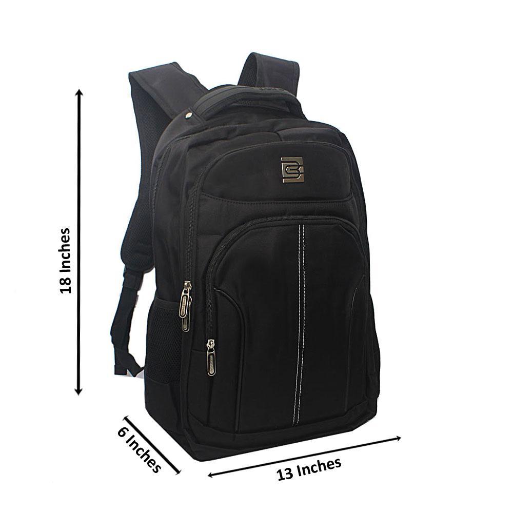 Black Outline Multi Zip Bruno Cavali Backpack