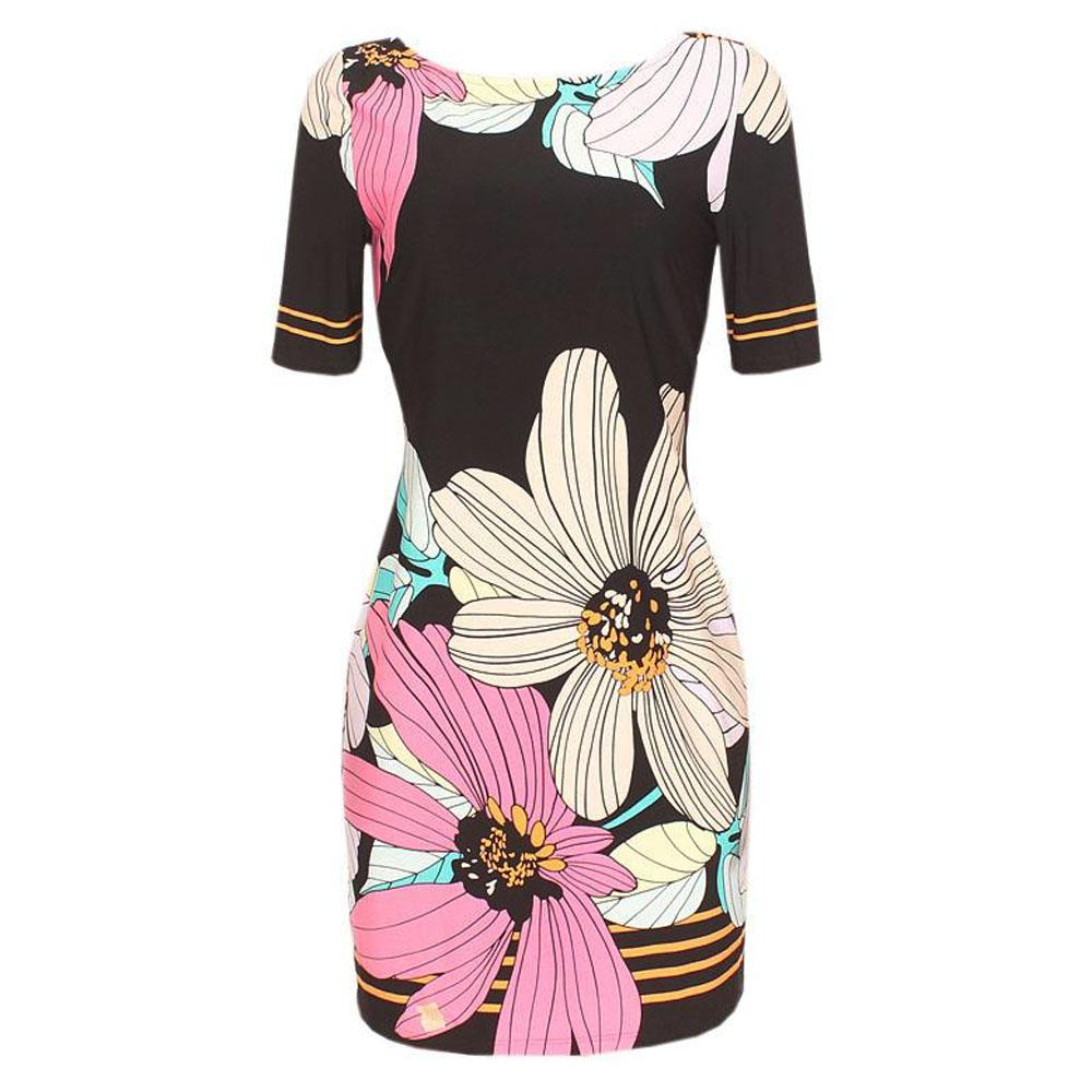 M & S Collection Multicolor S/Sleeve Dress-Uk 12