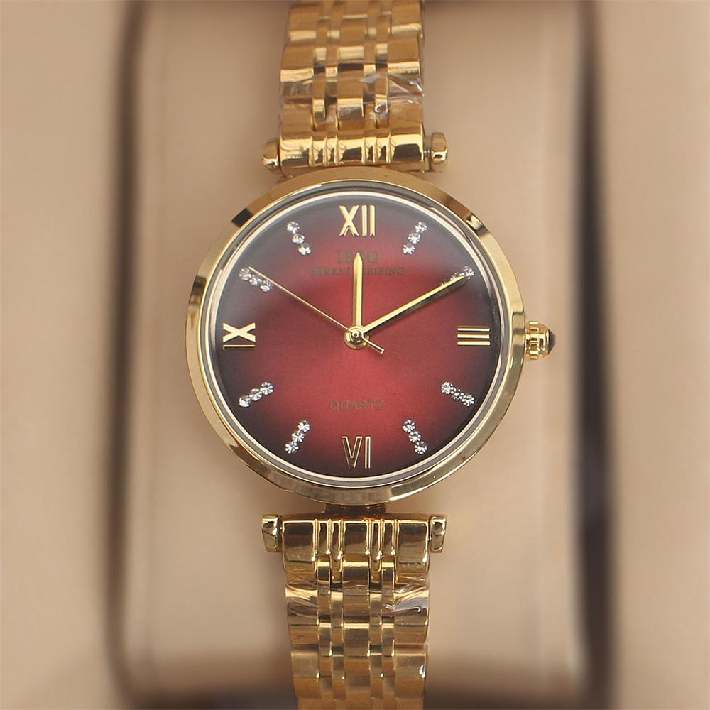 Swift Gold Wine Stainless Steel Ladies Watch