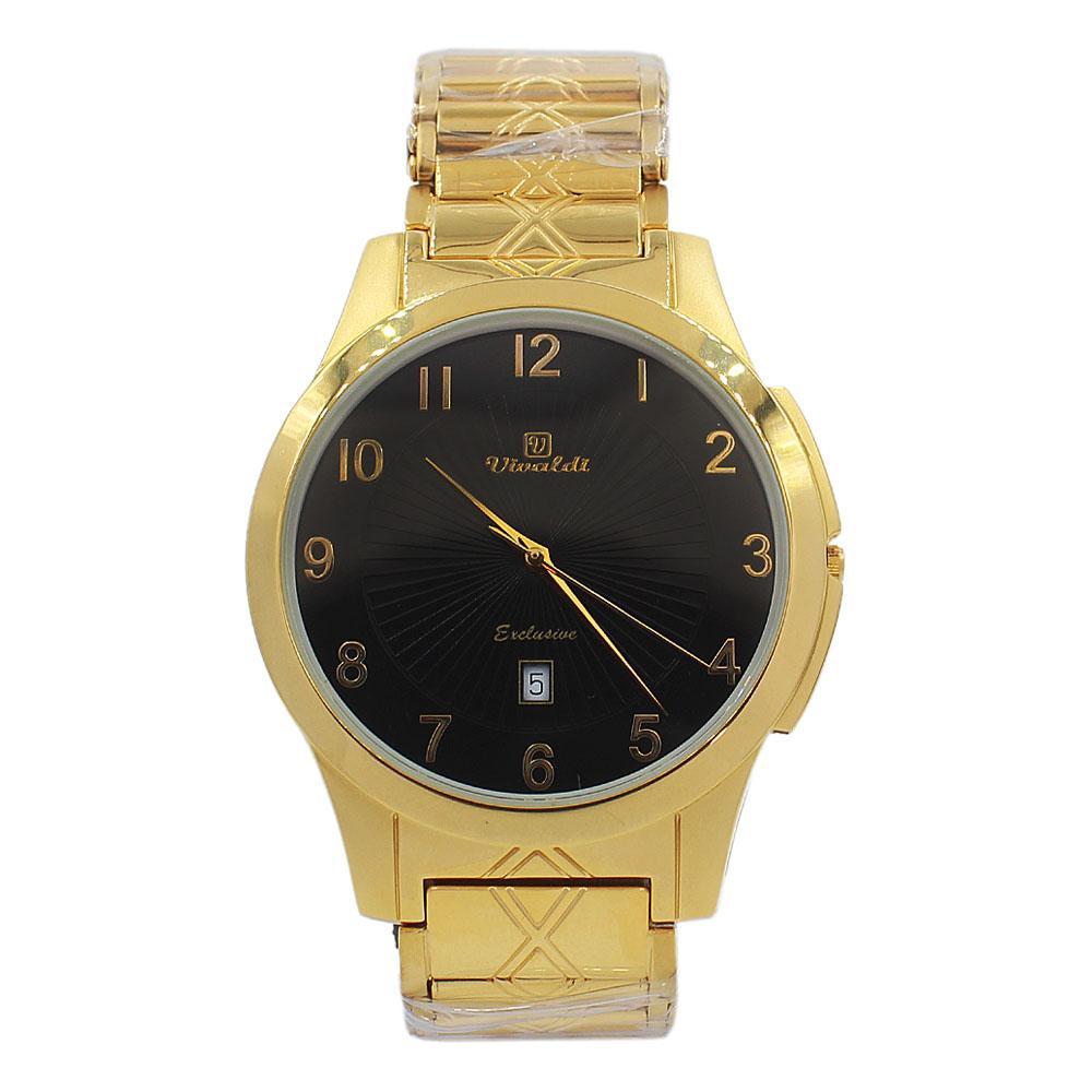 Gold Black Aurelio Stainless Steel Fashion Watch