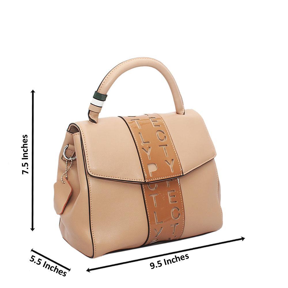 Cool Khaki Styled Single Tuscany Leather Handbag