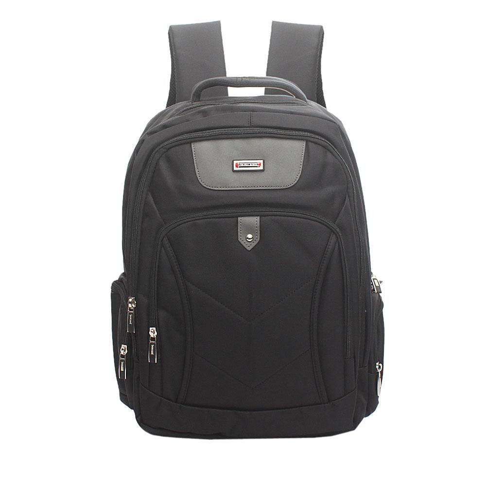 Duslang Black Fabric Laptop Backpack