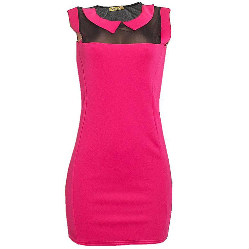 Glamour Babe Pink Sleeveless Cotton Ladies Dress-10