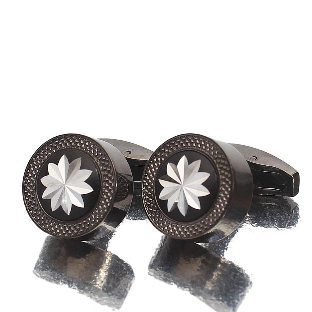 Black Crafted Stainless Steel Cufflinks