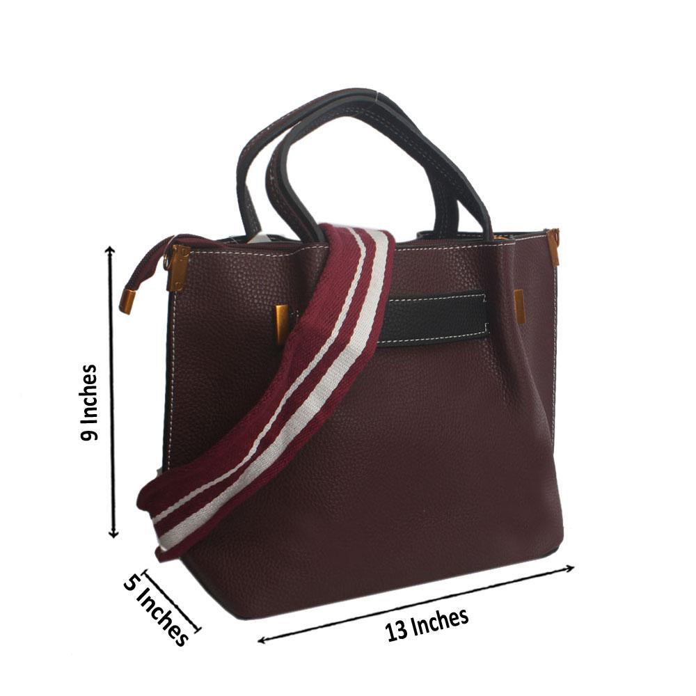 Wine Hook Leather Handbag