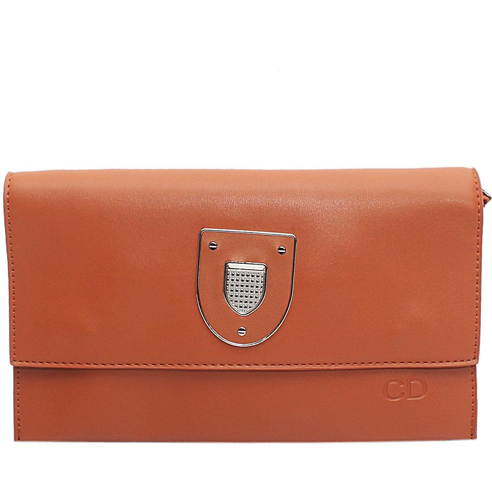 Brown Marshal Leather Flat Purse
