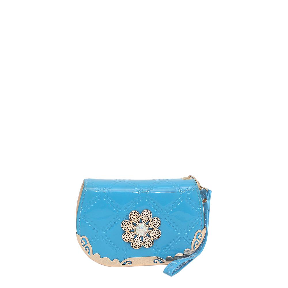 Nomark Blue Leather Small Purse