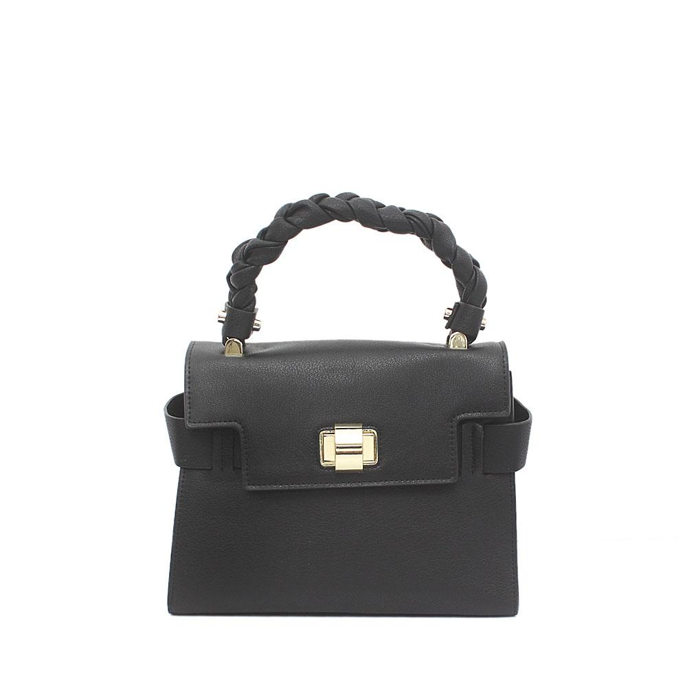 Black Saffiano Leather Small Handle Bag