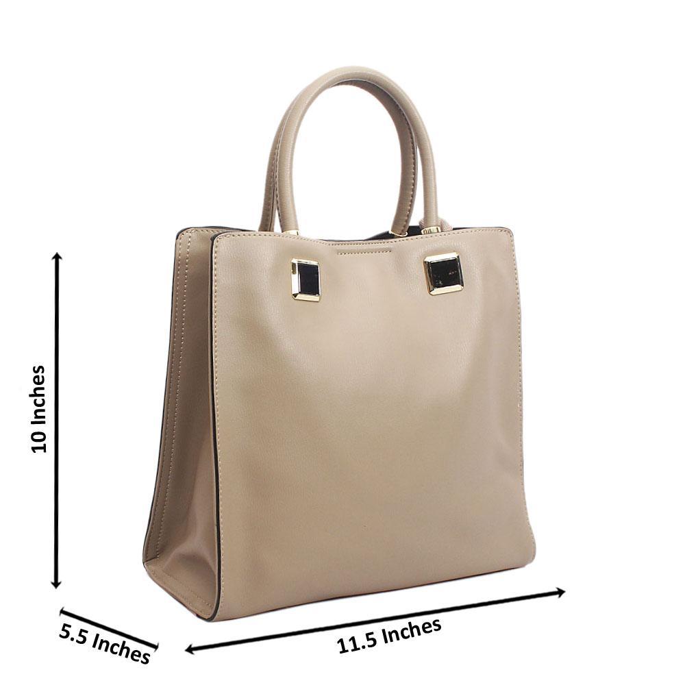 Shinning Khaki Tuscany Leather Morisa Tote Handbag