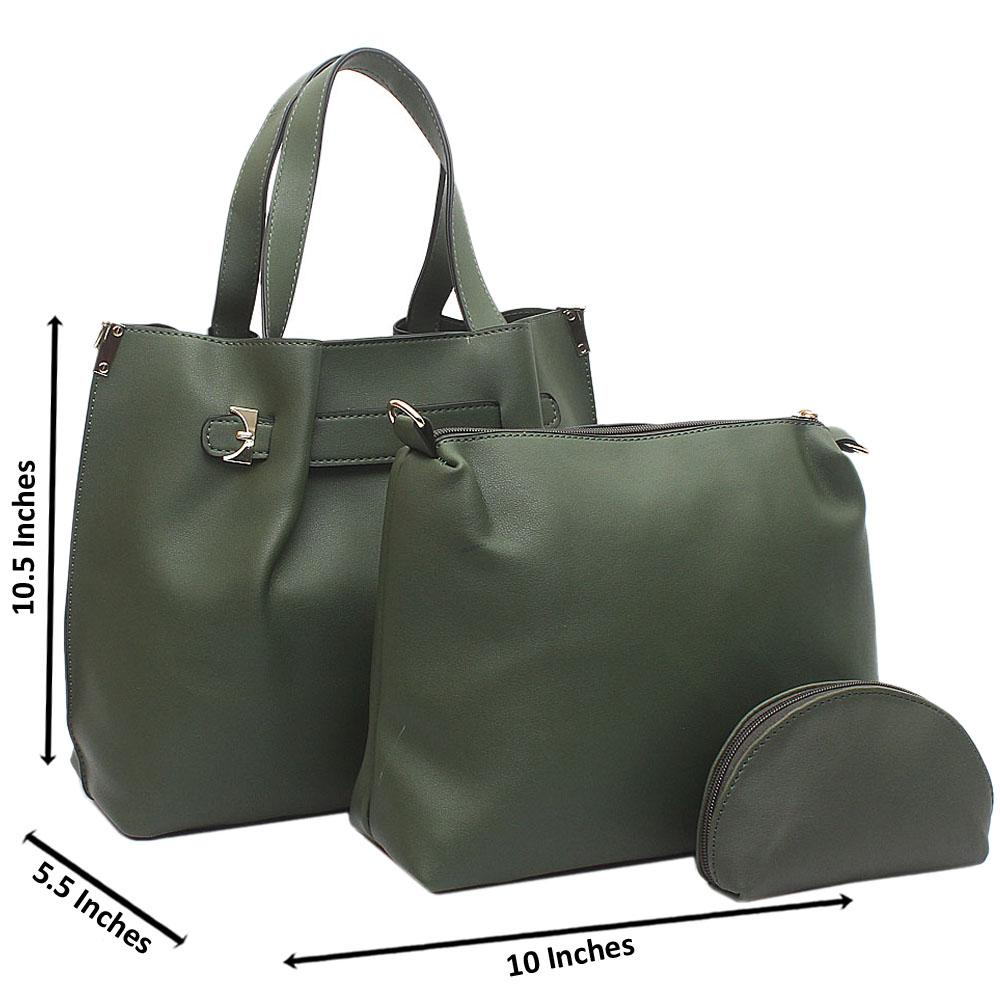 Green Mabel Medium Leather Handbag