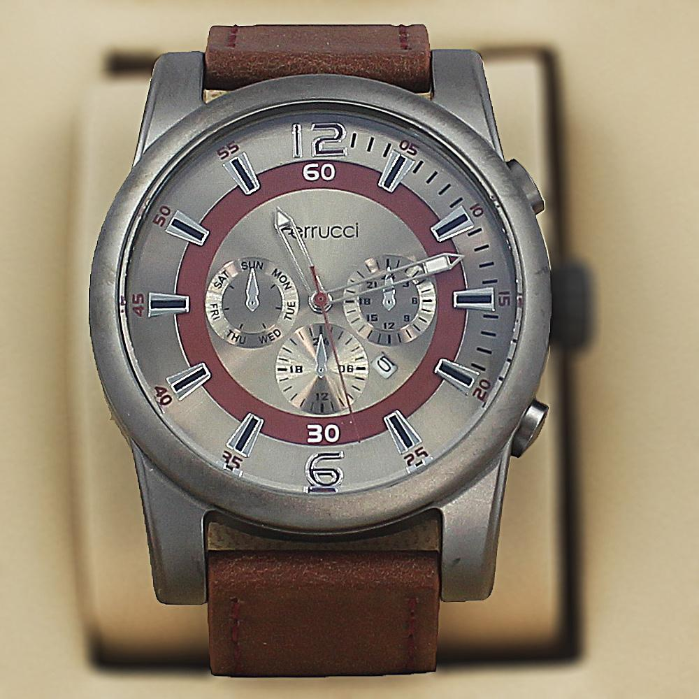 Ferrucci Hyginus Brown Leather Sport Series Watch