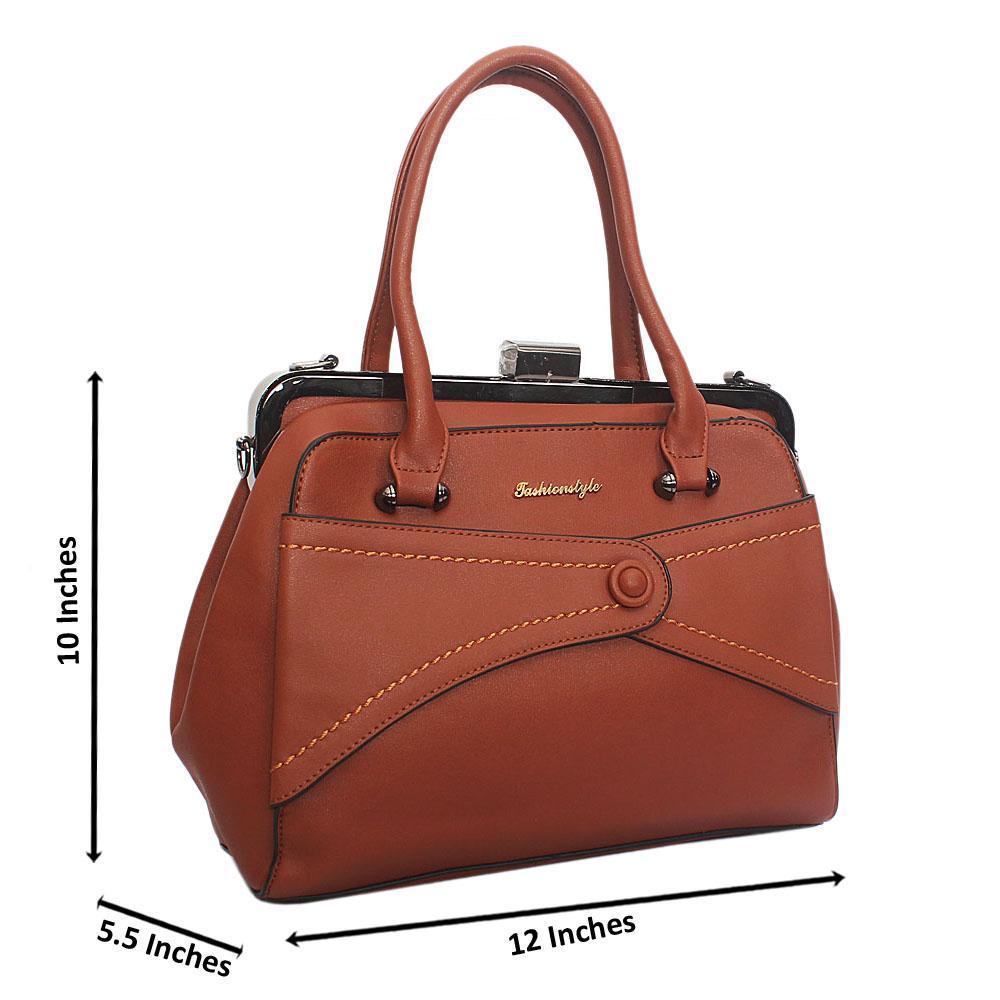 Brown Ellie Leather Tote Handbag