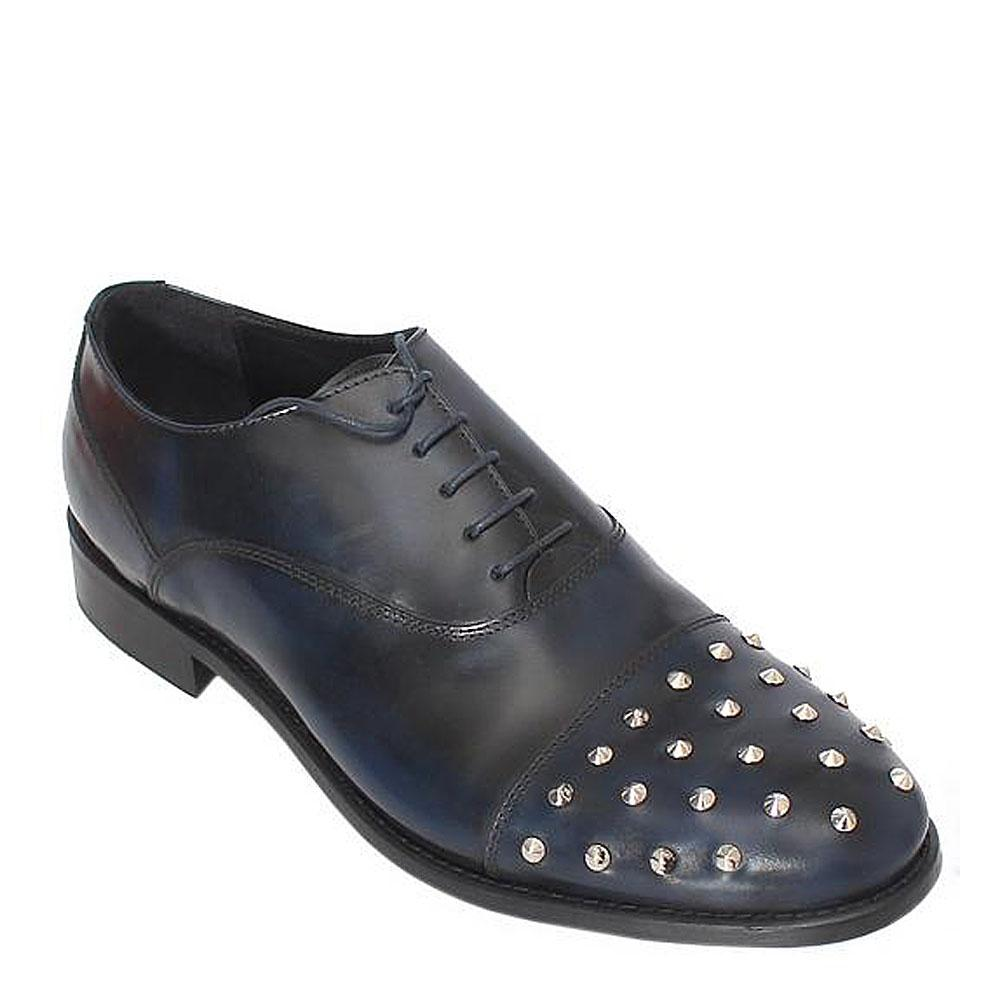 Kurt Geiger Blue-Black Stone Leather Men Shoe-EUR 46