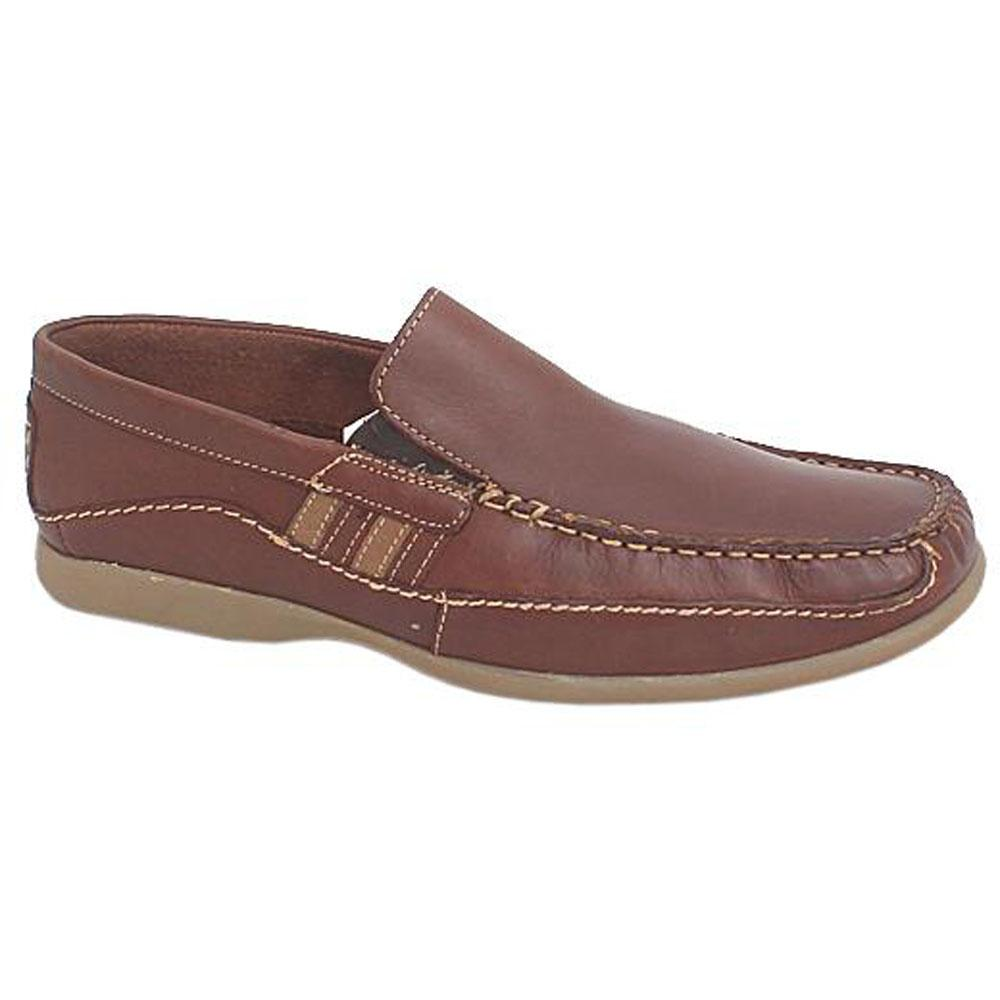 M & S Collection Brown Leather Men Loafers