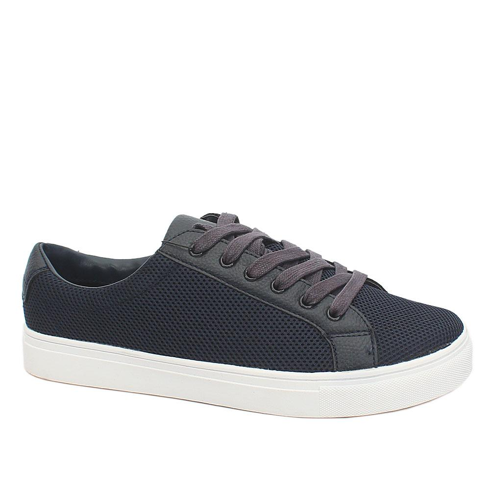 M&S Active Blue Netty Fabric Leather Men Sneakers