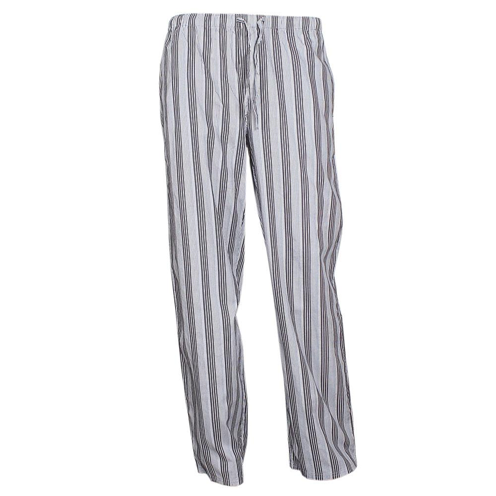 M & S Autograph Gray/Black Stripe Men's Pyjamas Trouser Sz-S