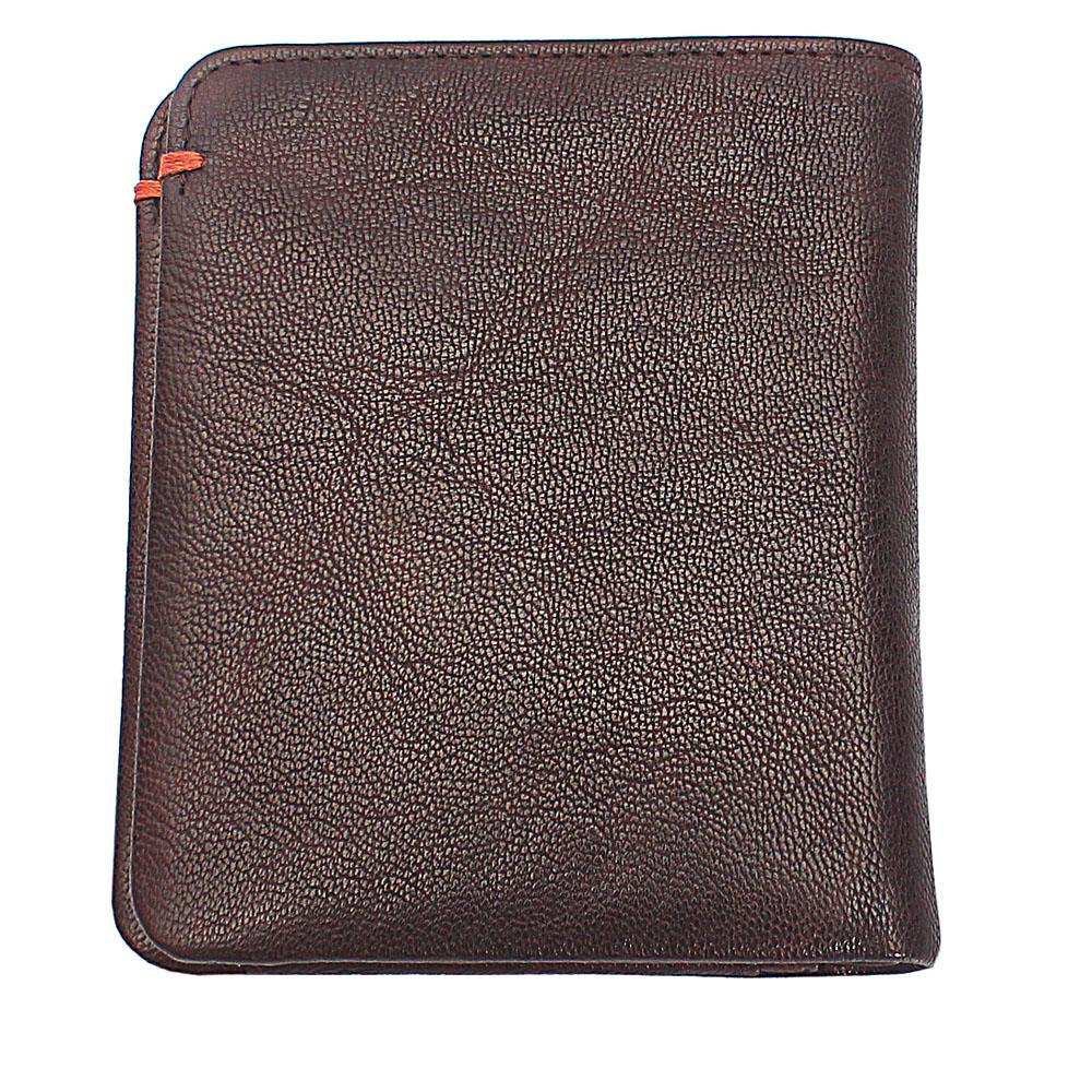 Brown Plain Leather Wallet